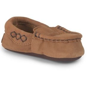 UGG Baby Silvia Brown Leather Moccasins (4/5)